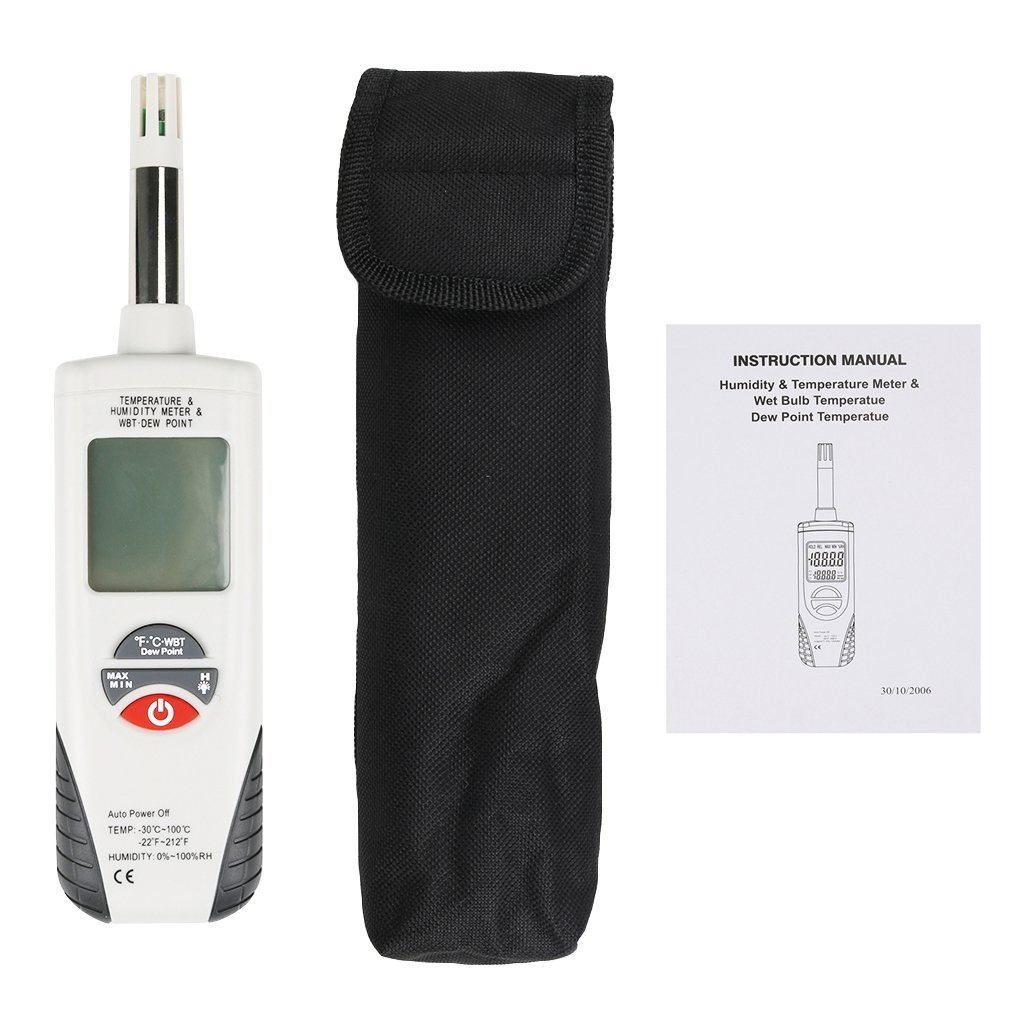 Terowa Hti HT-350 LCD Digital Temperature Hygrometer Portable Temperature Humidity Meter Tool