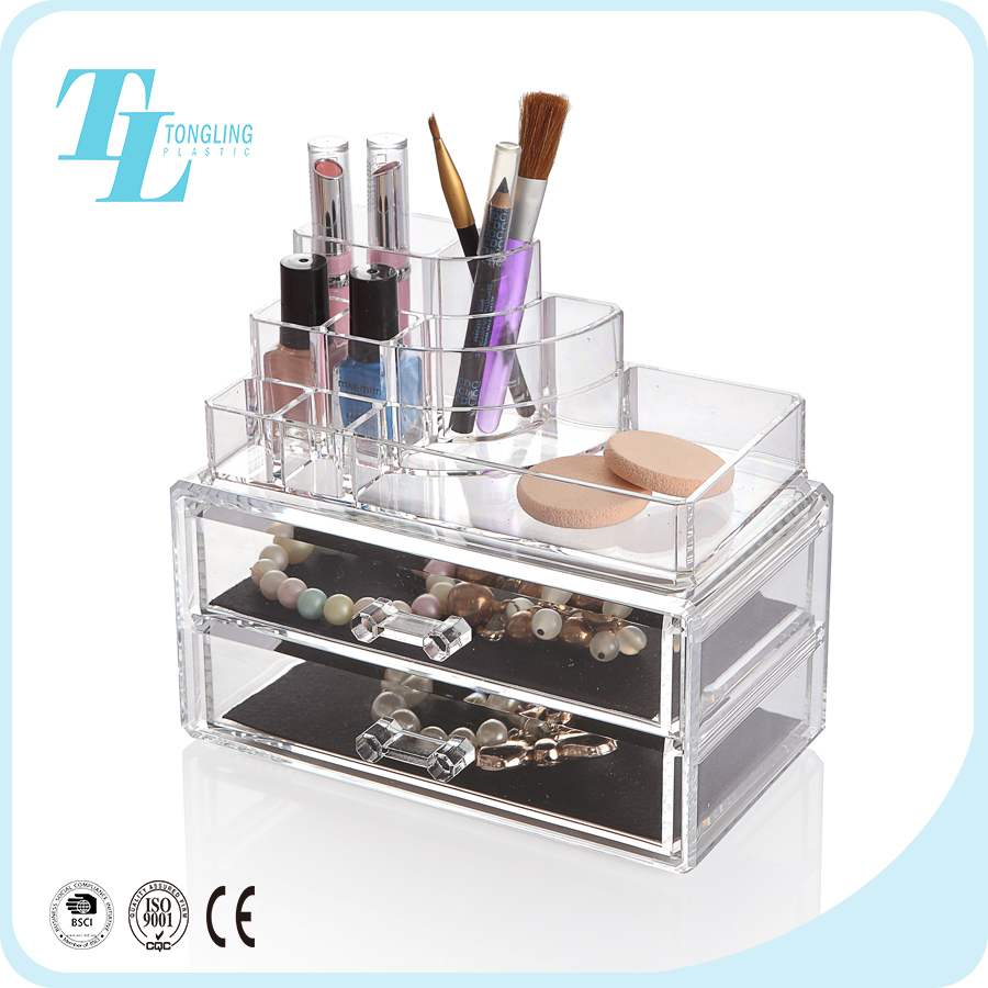 China factory best price wholesale custom acrylic organizer makeup boxes
