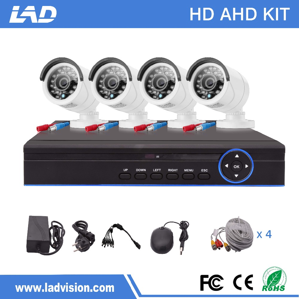 2017 Cheap 4 channel 960P Security Camera System for Outdoor Use