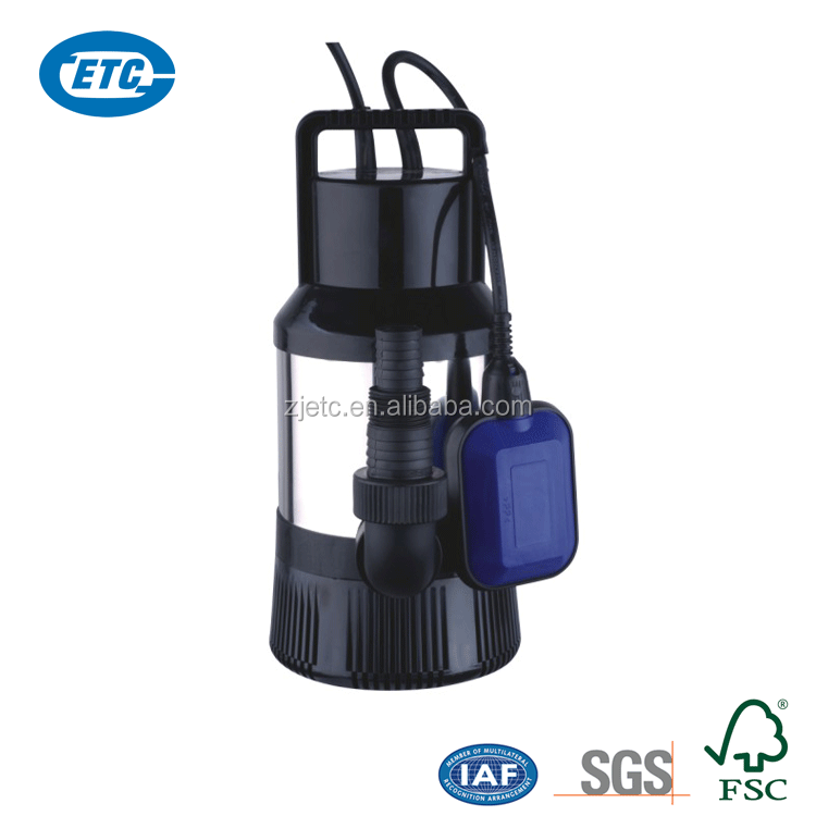 High lift electric rain barrel water pump with round float switch