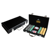300 Pieces Poker Chip Set with Black Leather Case