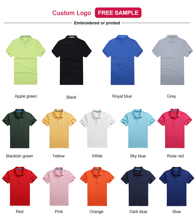 Cotton men's custom new design model polo t shirt men manufacturing