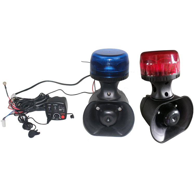 Motorcycle Red blue beacon light speaker siren amplifier microphone MSG-03-40W