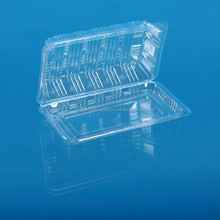transparent disposable plastic food pastry container