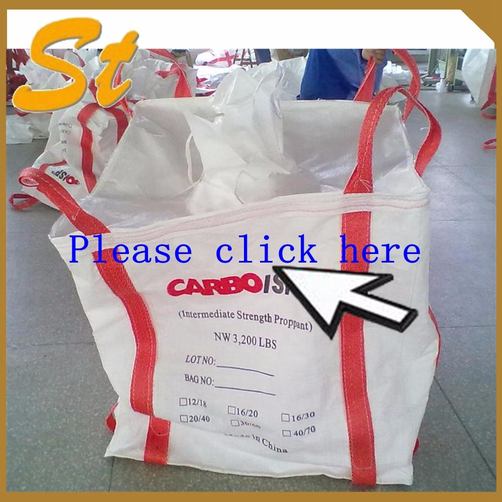 China supplier PP woven bulk big ton bag / jumbo bag for packing stone, fish meal,sugar,cement,sand