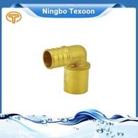 NHS BOOTH#4030 Brass pex sweat elbow pipe fitting TX04360 Series with CSA pex*sweat