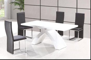 Charmant MDF High Gloss Modern Wooden Dining Table Sets