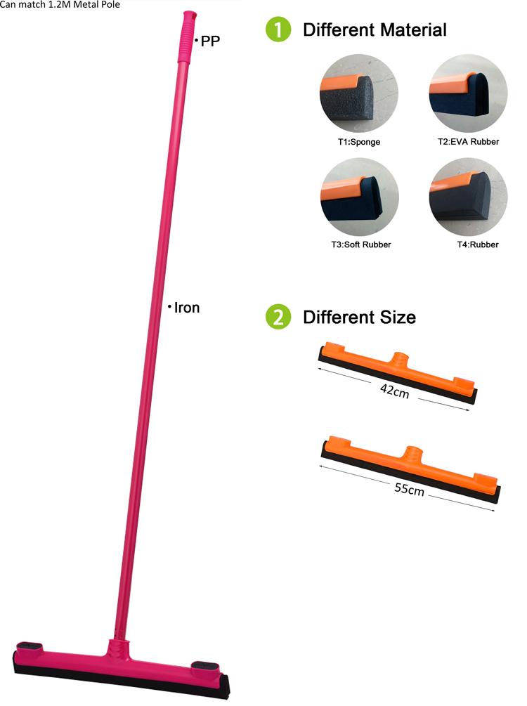 Doppel-EVA-Gummiblattboden-Rakel Schaumgummi-Rakelbodenwischer