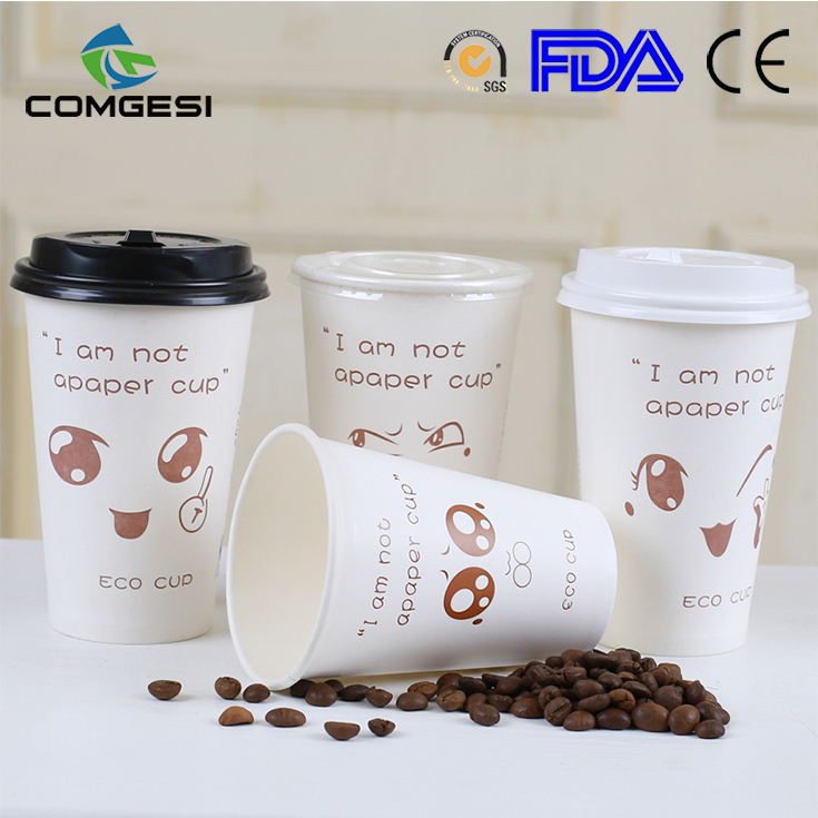 Fantastic manufacturer Food grade Style New Products Mcdonald Mc flurry custom Dixie ads single wall paper cup for sale