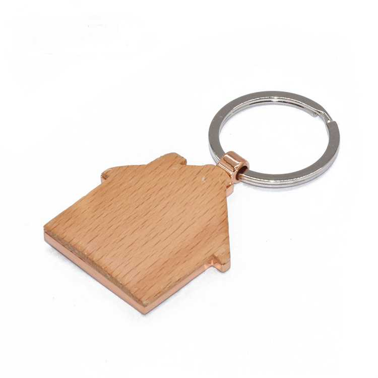 Promotional gift llaveros casa custom carving custom metal keychains house shaped souvenir wood keychain