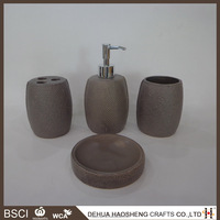 4 pcs china ceramic bathroom accessory