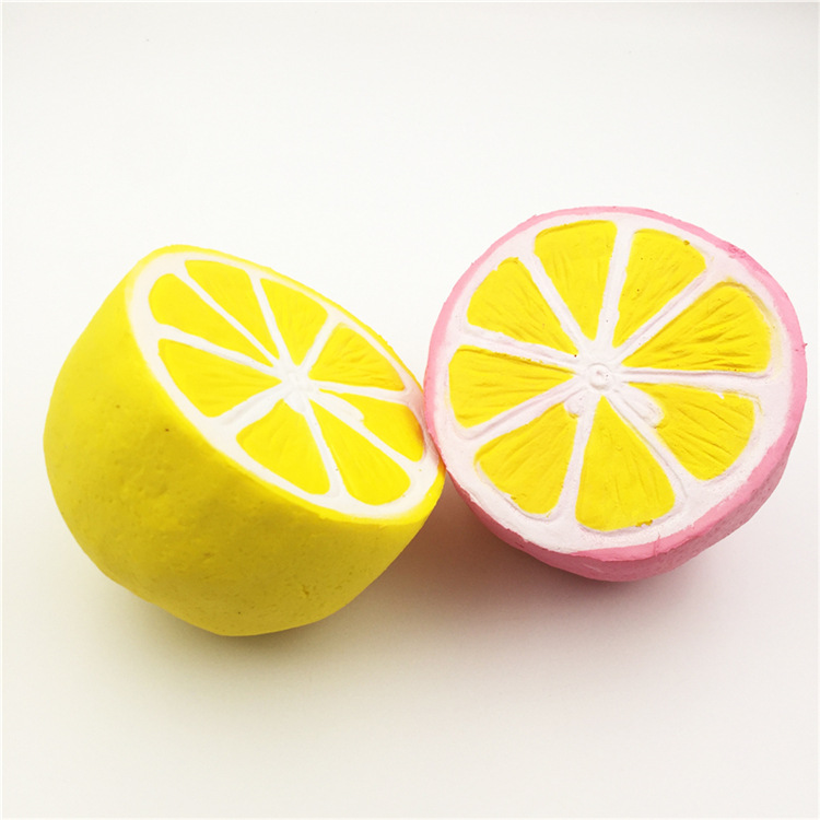 China Factory Supplier High Quality Soft Slow Rising With Good Smell Lemon Fruit Kids Squishy Toys