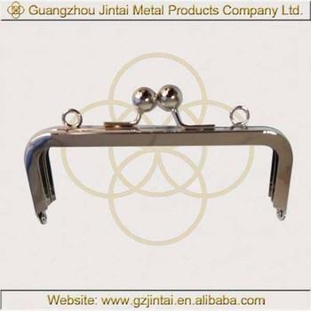 Simple Design Nickle High Quality Metal Purse Handbag Frames 14cm ...