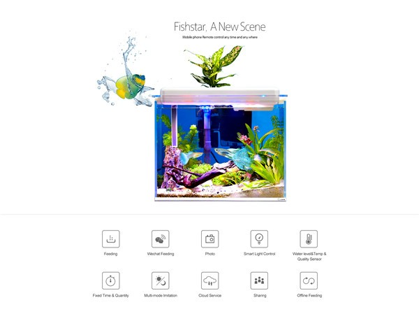 Large smart acrylic aquarium lucite artificial fake fish for Smart fish tank