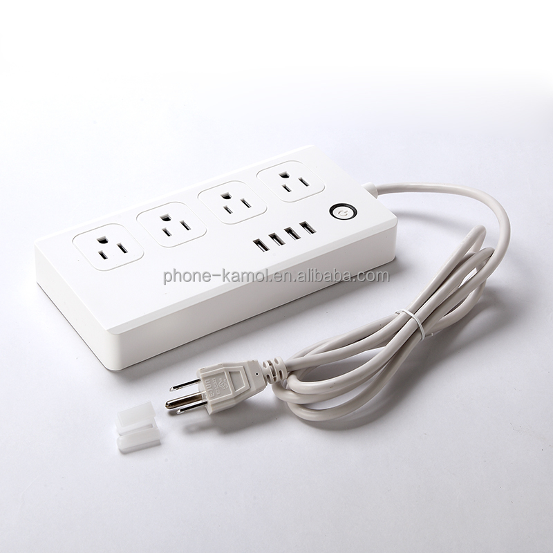 US smart home accessories wifi multi plug electrical multi usb adapter plug power socket with usb ports works with amazon alexa