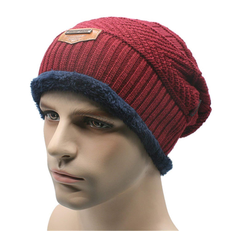 Gome-z Beanies Knit Men s Winter Hat Caps Skullies Bonnet Winter Hats For Men  Women 44bb4c16d1b2