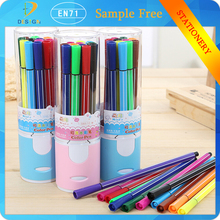 2015 hot-sell Barrelled 12 pcs set doodle artist drawing washable watercolor pens for school office suppies