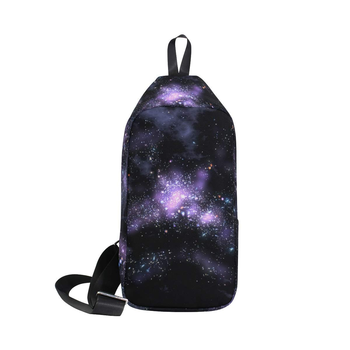 b36a407abe74 Get Quotations · LORVIES Galaxy Design Sling Bag Shoulder Chest Cross Body  Backpack Lightweight Casual Daypack for Men Women