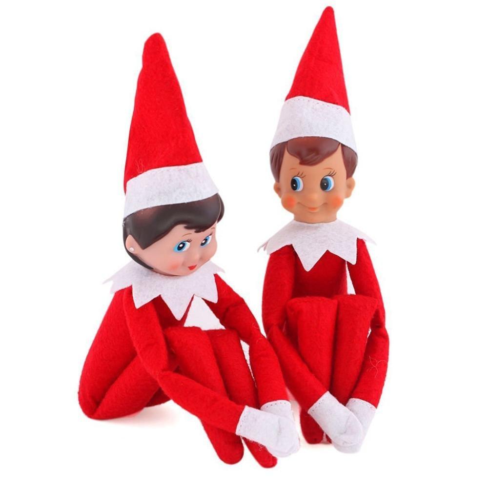 Creazy Christmas Elf on The Shelf Plush Dolls Girl Boy Figure Christmas Toys Gifts
