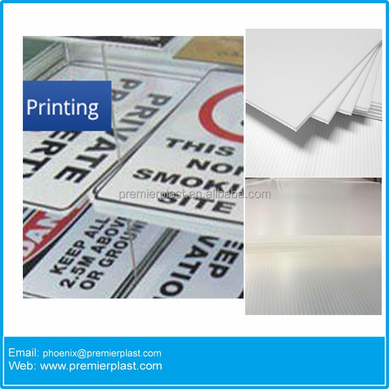 Cheap factory price for wholesalers ISA & SIGA custom 4mm corrugated sign material