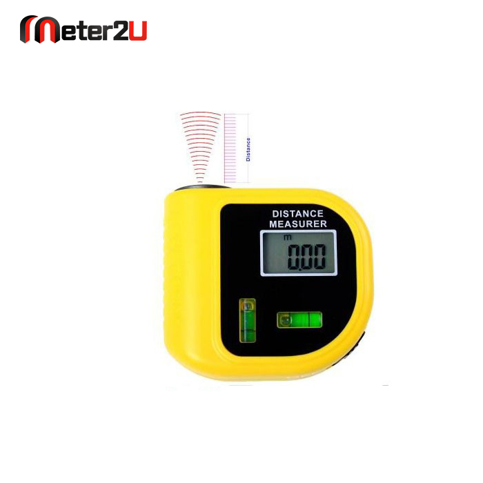 Mini portable ultrasonic distance measurer with Bubble Level ranger finder