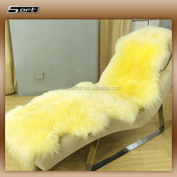 Wool Bench Covers White Lambskin Real Fur Sheep Rugs For Sale