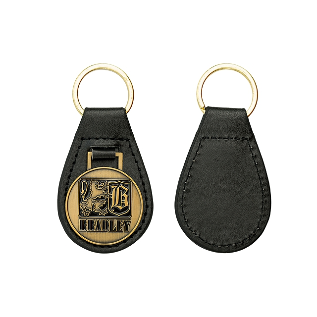 Wholesale Leather metal Soft enamel custom logo military official car metal keychain