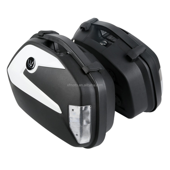 TCMT XF111517 Black Hard Saddlebags Saddle Bag For KTM 125DUKE 200DUKE 2012-2015 2014 2013