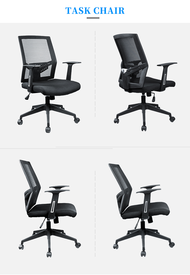Modern design mid back office chair mesh staff office chair swivel office mesh computer chair