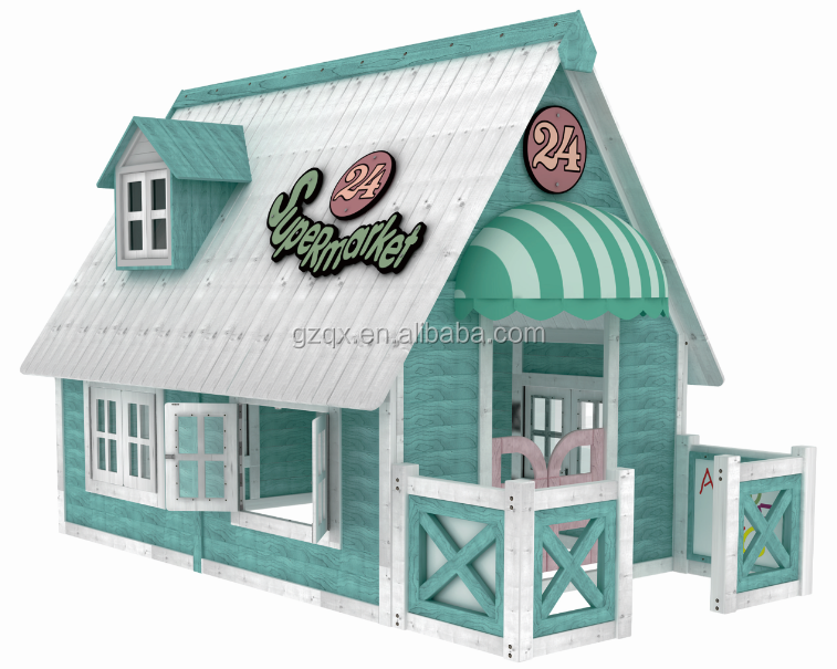 european style wood playhouse kids outdoor playhouse wooden outdoor playhouse qx204h