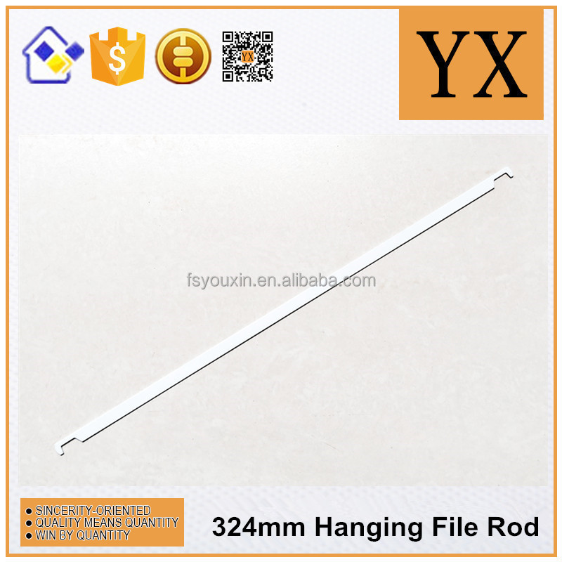 China manufacturer white color hanging file rod