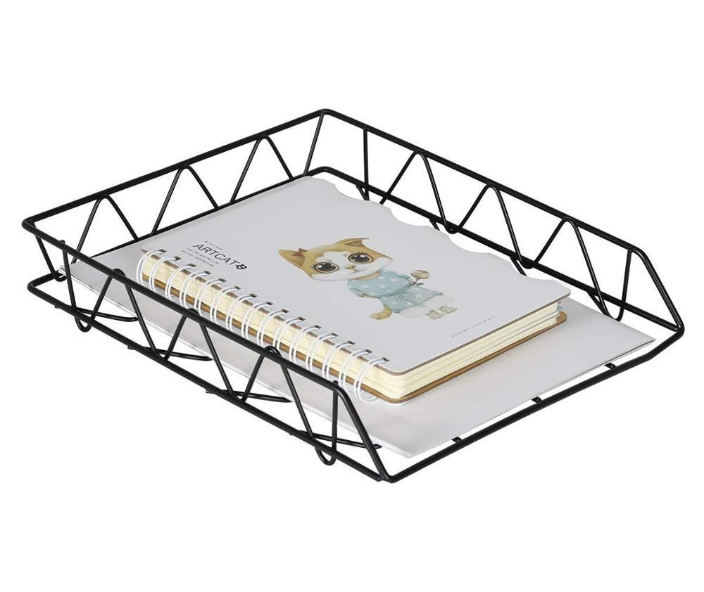 Office & school 용품 metal black 메트 vintage desk 주최자 A4 파일 tray 1 tiers/2 tiers