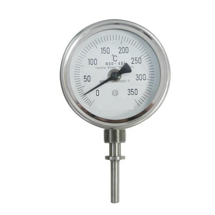 مقياس درجة الحرارة الصناعية WSS غلاية مياه معدنية أنبوب مزدوج مقياس الحرارة ثنائي الفلز
