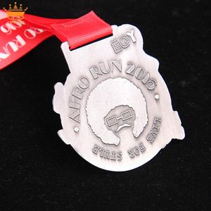 Custom made yiwu market custom finisher medals military plate medals