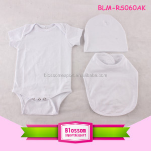0-24 months baby grow clothes skin friendly cotton toddler rompers newborn plain white baby rompers