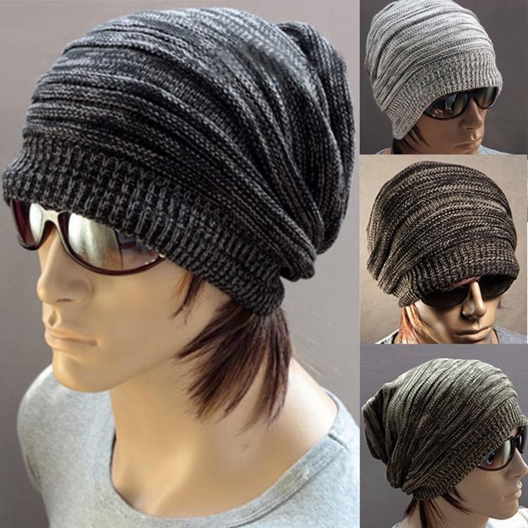 Top Selling Promotional Men Cap Beanie Stripe Skullcap Hippie Hat Knit Wool  Ski Hat 69765e21c0b