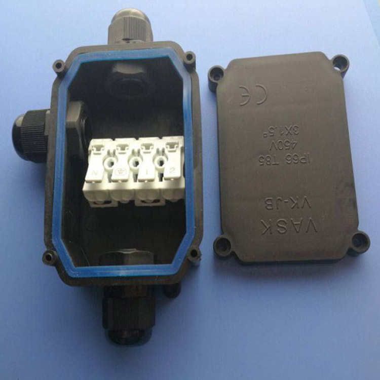 T85 Plastic electrical waterproof box IP65 outdoor LED lighting cable connection junction box
