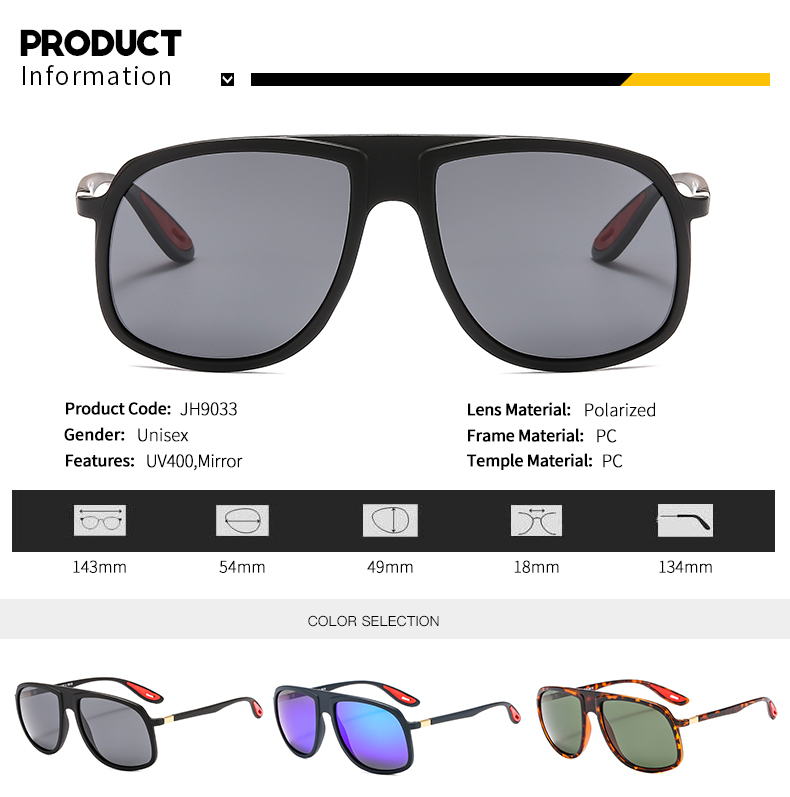 Wholesale Custom Men Shades lunettes de soleil Polarized Mirror Mens Pilot Oversize Shades Sunglasses 2019