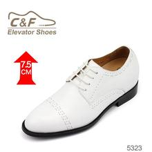 Hand made high quality white wedding shoes