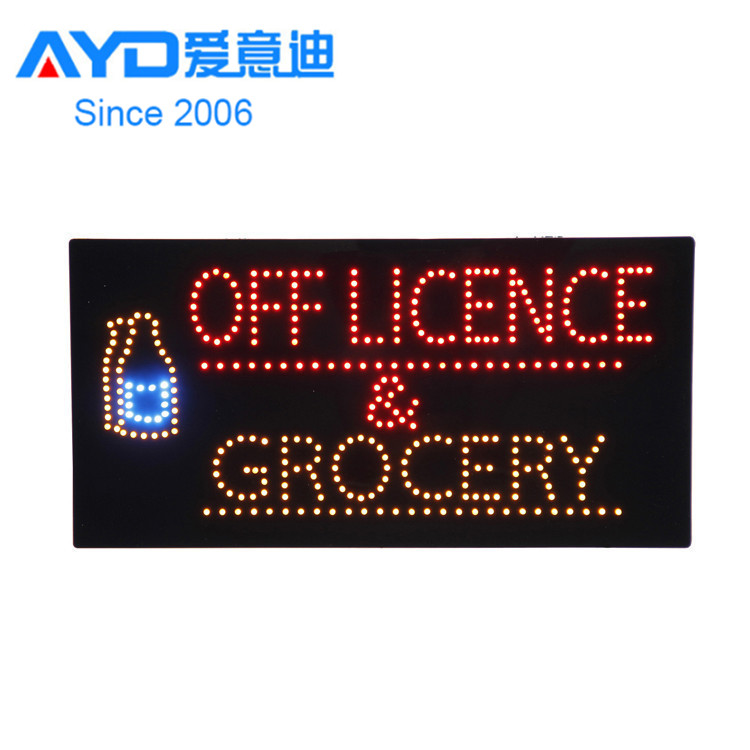 Hotcake Indoor Advertising Off License LED Open Board Program LED Display LED Window Sign