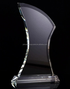 Hot sale free customized logo and text engraved crystal award