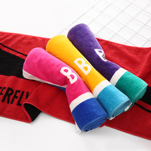 114*35cm Red Gym Yoga Shower Beach Towel Sports Towels Cotton Fast Dry Travel Hand Towels