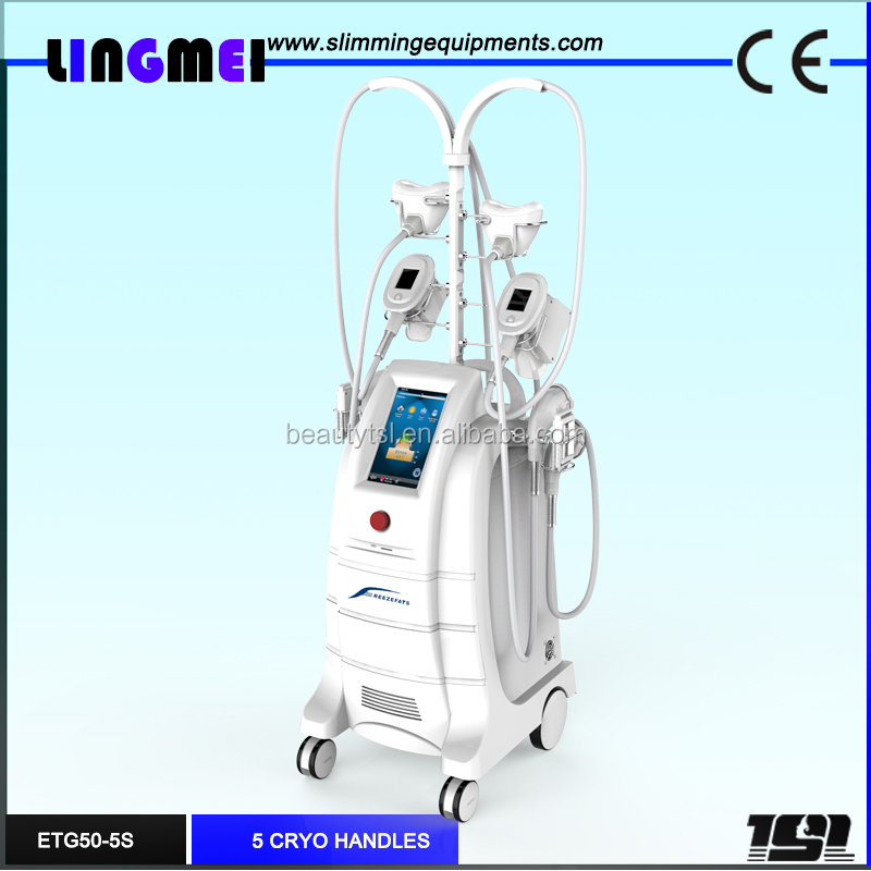 LINGMEI ETG50-5S Popular CE approved cool pads double chin removal body slimming cryolipolysis machine price