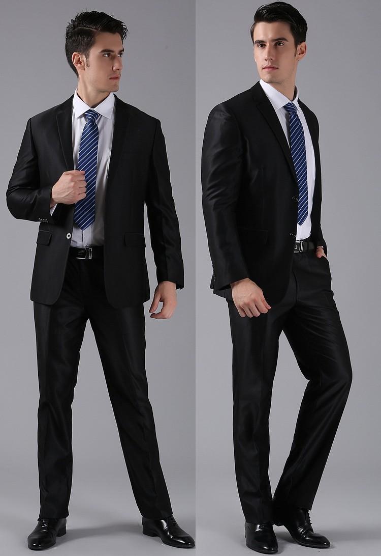 (Kurtki + Spodnie) 2016 Nowych Mężczyzna Garnitury Slim Fit Niestandardowe Garnitury Smokingi Marka Moda Bridegroon Biznes Suknia Ślubna Blazer H0285 21