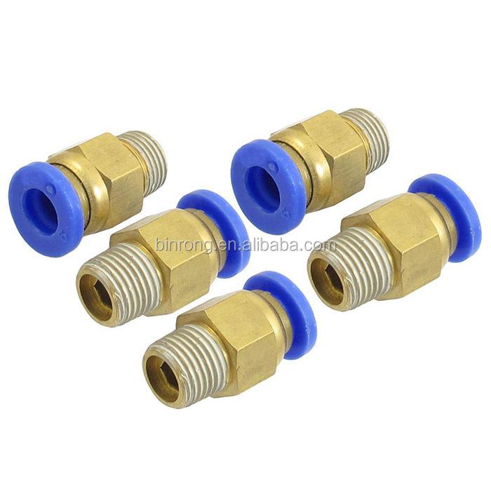 Empuje latón 1pc para conectar 6mm Od guarnición rápida de un toque Tee bmte 6-6