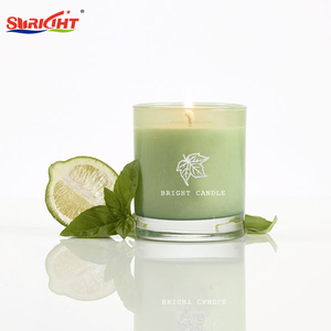 2019 Lime Flavoured Luxury Glass Soya Candle