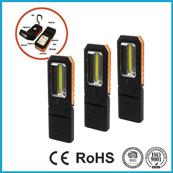 1 COB Work Lamp + 3 LED Torch, Bright Work Light