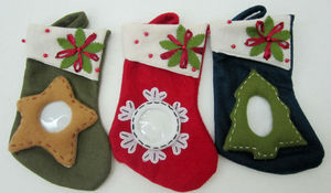 High quality Stuffed & Plush Sock for Christmas gift/plush socks for christmas day