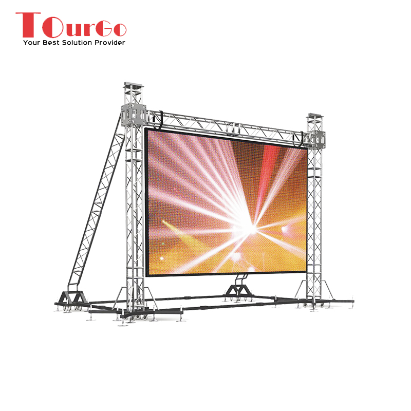 TourGo Cheap LED Screen Support LED Video Wall for Special Events LED Screen Truss