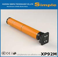 AC roller shutter door motor- XP92ML(Manual and Latest Type), direct drive, 220V/110V, tubular motor for rolling shutter, 92mm